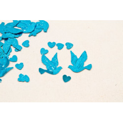 Confettis colombe turquoise...