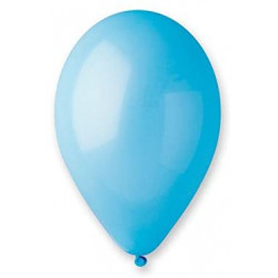 50 ballons turquoise...