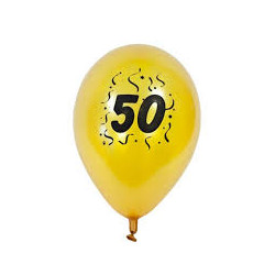 "ballon nacré or imprimé ""50..."