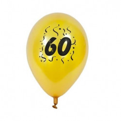 "ballon nacré or imprimé ""60..."